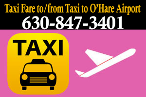 Taxi to/from to Midway from Glen ellyn IL IS $30.00 Is Cash Price Accept - Share Ride Taxi Fare