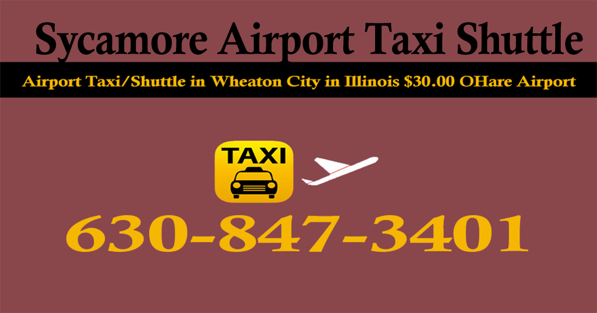 Sycamore taxi from/to O'hare Airport from Suburbs IL