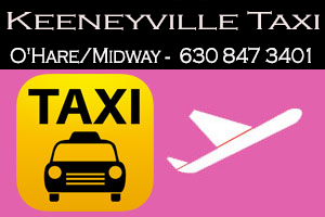 Taxi To/From Midway with to/ from Keeneyville Taxi IL ☎ 630-847-3401