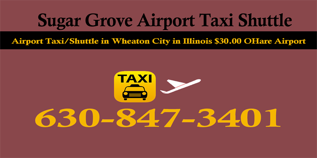 Taxi To/From O'Hare to Sugar Grove IL Illinois ☎ 630-847-3401