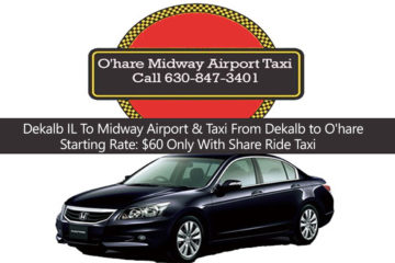 Taxi To/From O'Hare from Dekalb IL at $68.00