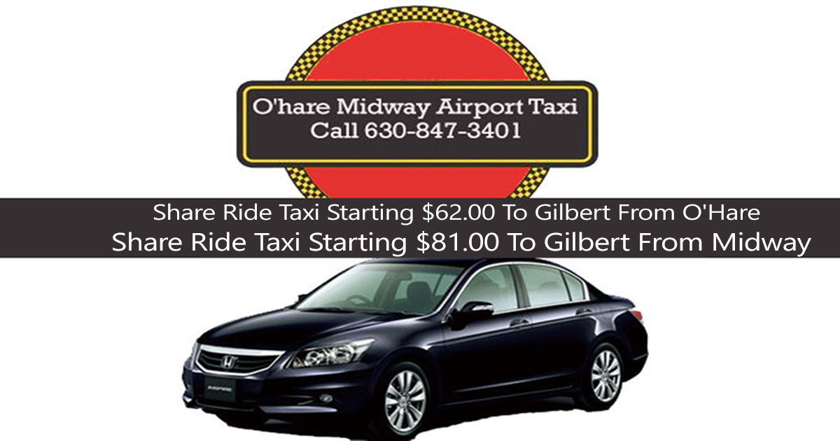 Taxi To/From O'Hare Airport to Gilbert IL