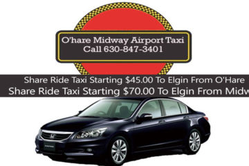 Taxi to from O'hare to Elgin